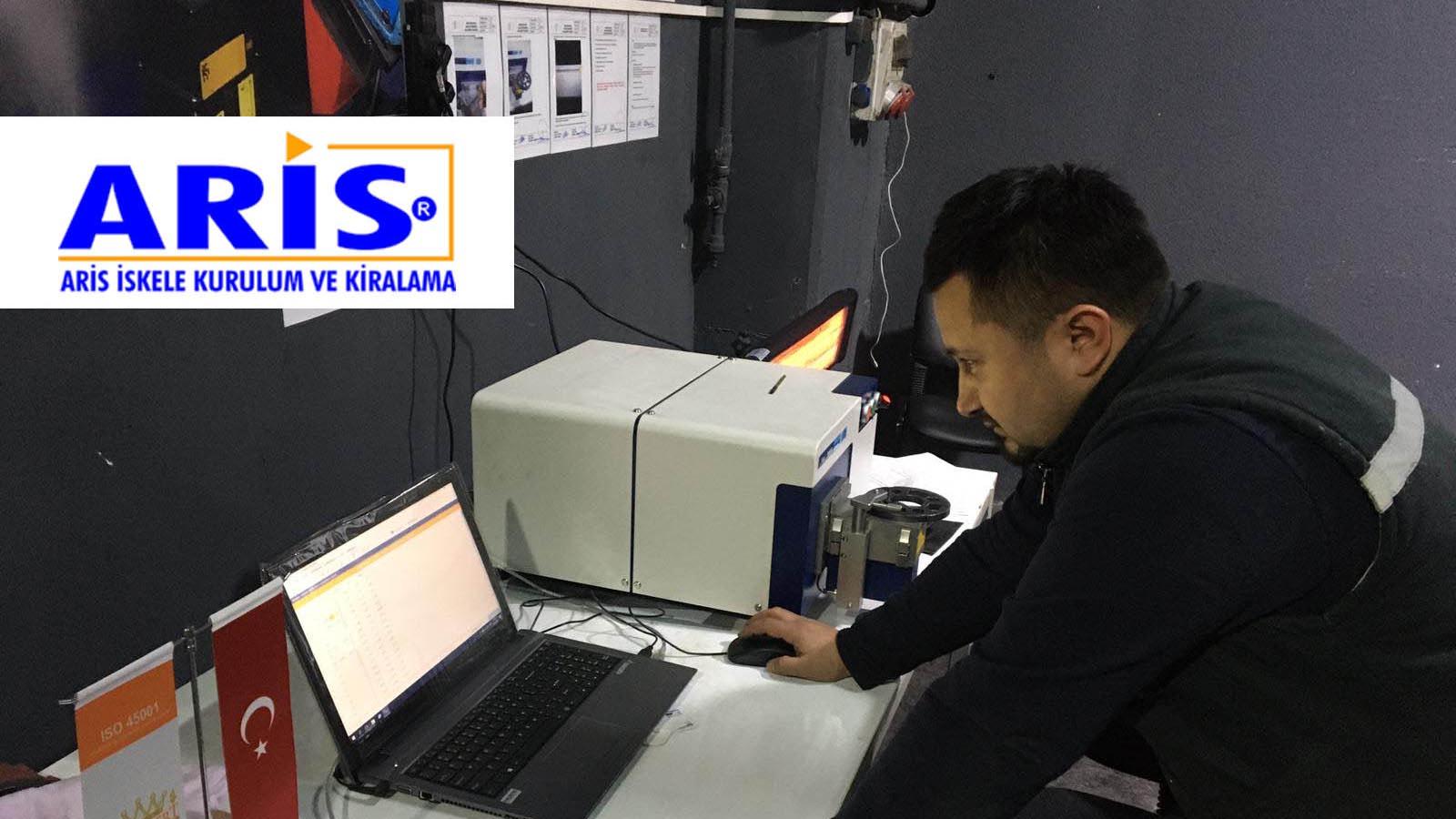 Aris İskele, ürettiği iskelelerin giriş kalite kontrollerini Hitachi Foundry Master Smart optik emisyon spektrometresiyle yapmaya başladı!