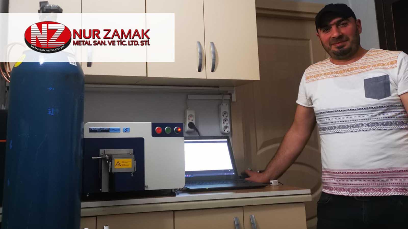 Nurzamak, Zamak Üretiminde Kontrollerini Hitachi Foundry Master Smart Optik Emisyon Spektrometresiyle Yapıyor!