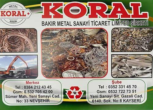 koral bakır metal sanayi ve ticaret